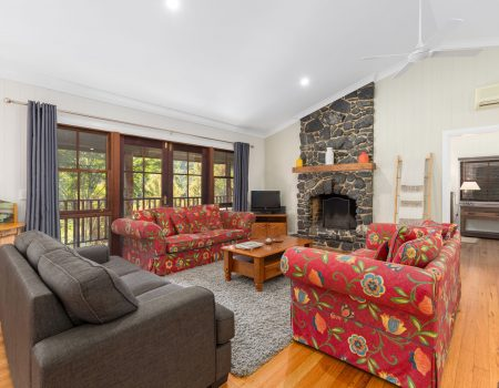 Large Living Open Floor Plan with Fire place Coffs Harbour