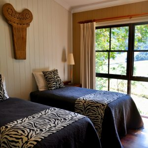 Bedroom 2 Twin Beds - Friday Creek Retreat Coffs Harbour Hinterland Accommodation