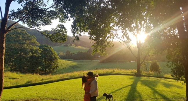 Couple on romantic getaway at friday creek retreat