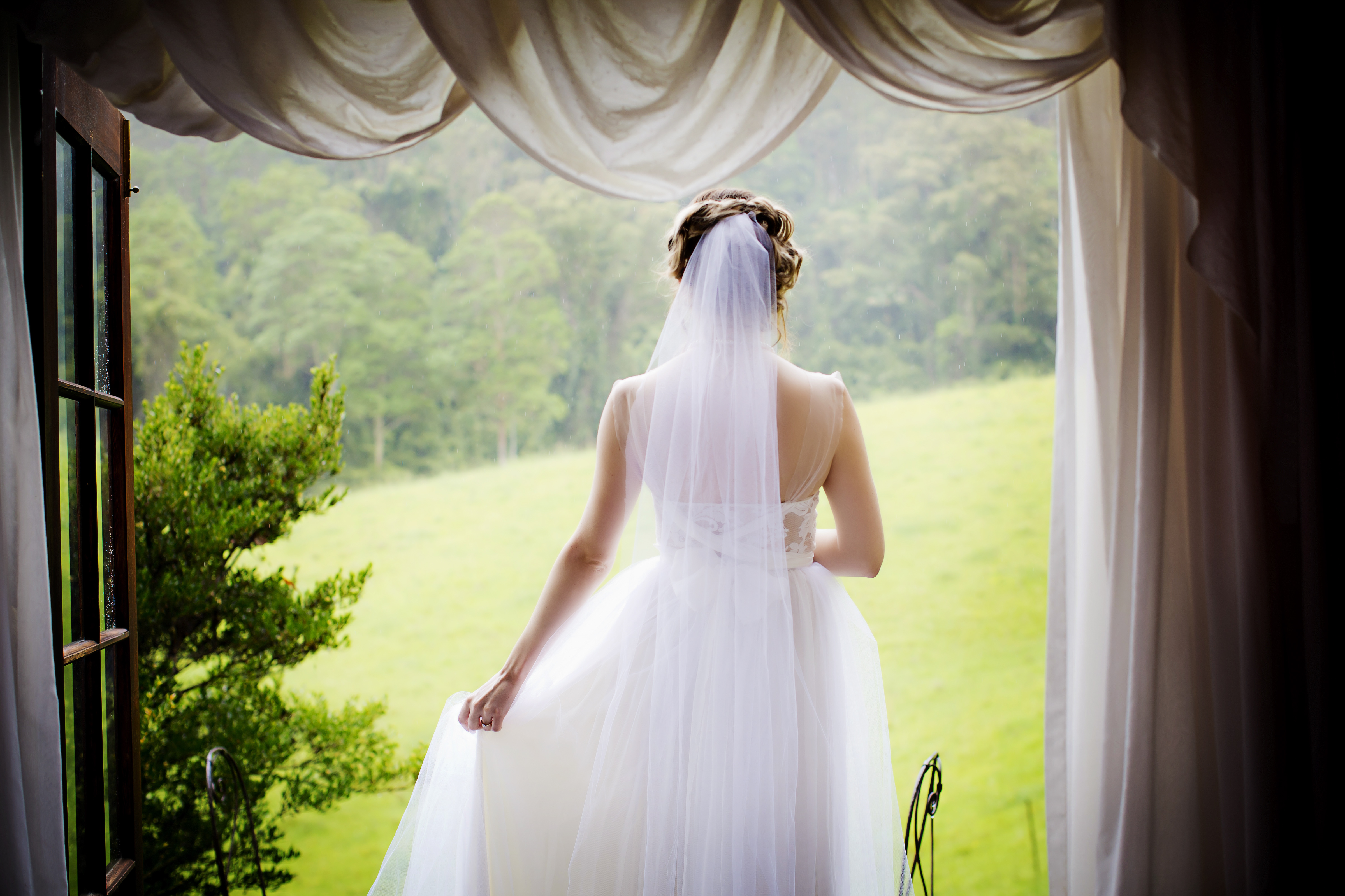 Small wedding venues in Coffs Harbour Hinterland Bride at Friday Creek Retreat