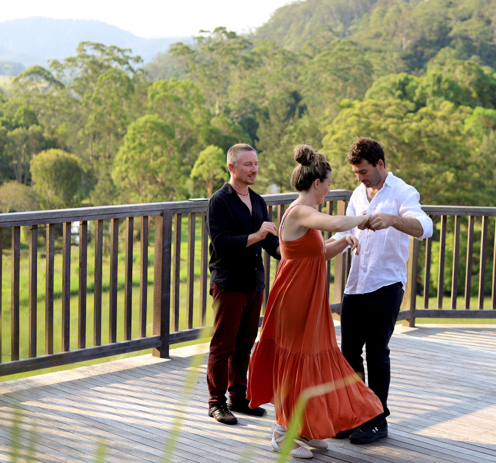 Wedding Dance Lessons with Corre Wade at Friday Creek Retreat