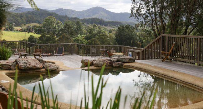 Friday Creek Retreat Pool View