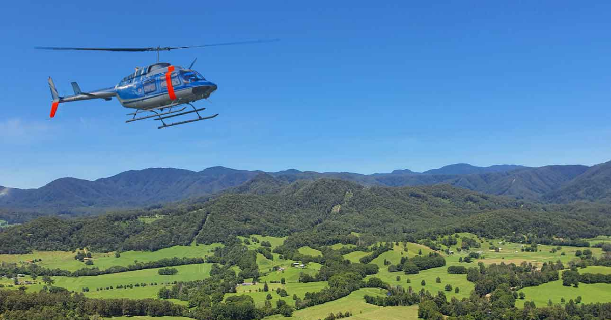 Friday Creek Retreat special occasion with Precision Helicopter